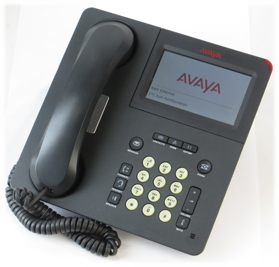 Avaya Deskphone 9641G SIP VoIP-Telefon (Tasten leicht vergilbt) 700480627