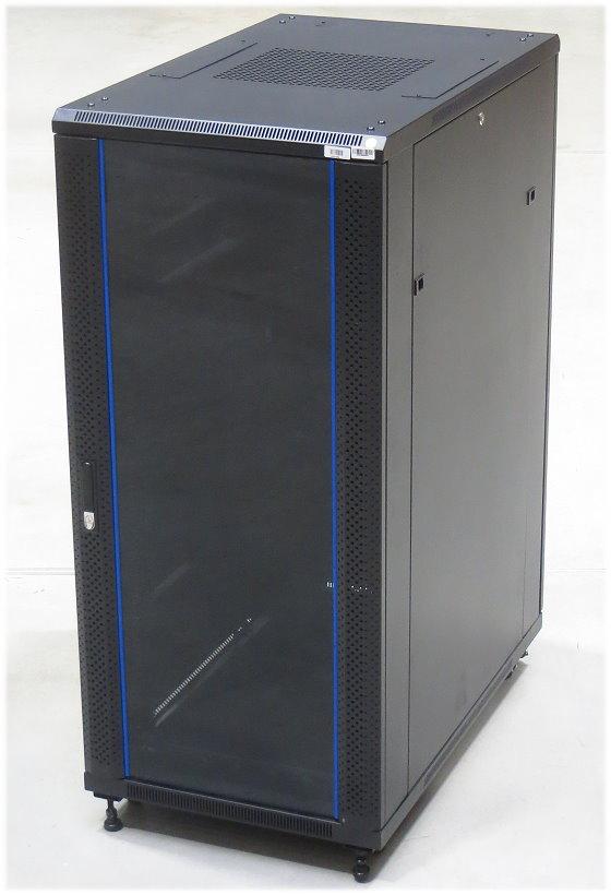Bachmann 27HE/27U Rack Serverschrank auf Rollen Glastür abschließbar