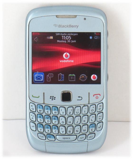 Blackberry 8520 Curve Smartphone blau ohne SimLock (Ladegerät fehlt) B- Ware