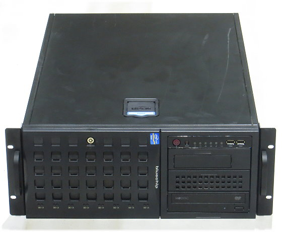 Bluechip CSE-745 4HE Server Xeon E3 1220 v2 4x 3,1GHz 16GB 2x 1TB DVD 2x PSU
