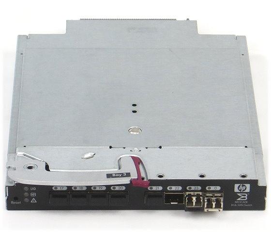 Brocade 8Gb SAN Switch AJ822A 8x SFP+ 2x AJ716A für HP BL c7000 Blade Center