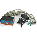 Cablematic Dual Monitor DVI Switch KVM 2x Port