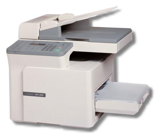 Canon FAX-L400 Faxgerät Laserdrucker Kopierer ohne Toner leicht vergilbt