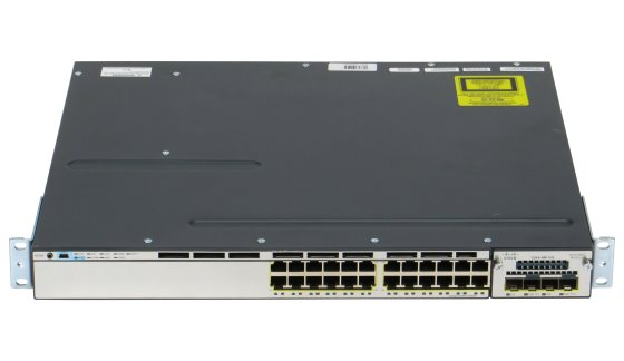 Cisco Catalyst 3750-X Switch WS-C3750X-24T-S im 19 Zoll Rack 24x RJ-45 Gigabit Ethernet