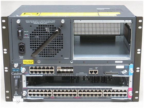 Cisco Catalyst 4503 Switch Chassis mit WS-X4013+TS + WS-X4148-RJ im 19 Zoll Rack
