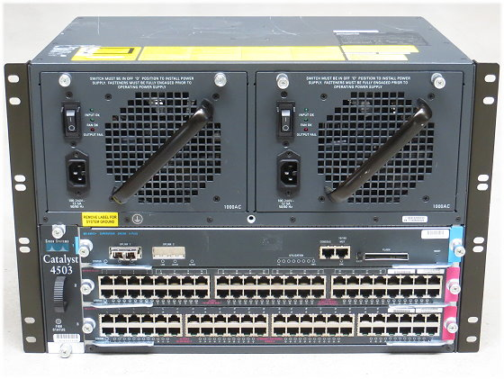 Cisco Catalyst 4503 Switch WS-C4503 mit WS-X4013+ WS-X4548-GB-RJ45 + WS-X4548-RJ