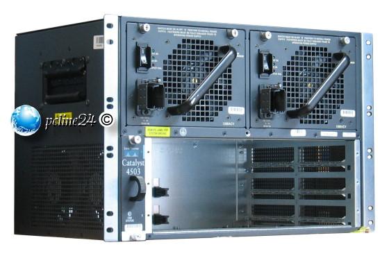 Cisco Catalyst 4503 WS-C4503 mit 2x Netzteil PSU