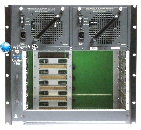 Cisco Catalyst 4506 Switch Chassis mit 2x PSU 1040 Watt & Lüfter WS-C4506