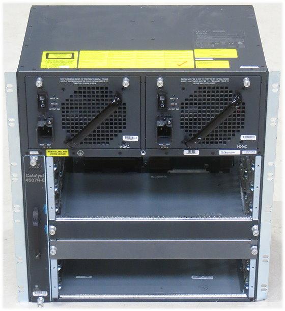 Cisco Catalyst 4507R-E Switch Chassis mit 2x PSU 1400AC im 19 Zoll Rack