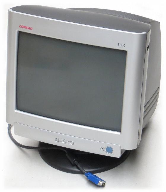 "15"" CRT Compaq S5500 1024 x 768 VGA D-Sub 15pin Monitor PE1155 Rarität Vintage"