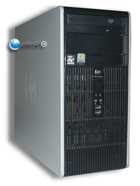 HP Compaq dc5750 MT Athlon 64 X2 Dual Core 4600+ @ 2,4GHz 2GB 80GB DVD Computer