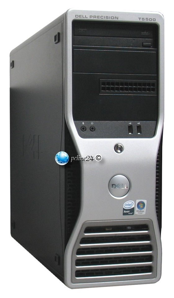 Dell Precision T5500 Xeon Quad Core E5630 @ 2,53GHz 12GB 300GB DVD±RW FX1800 Workstation
