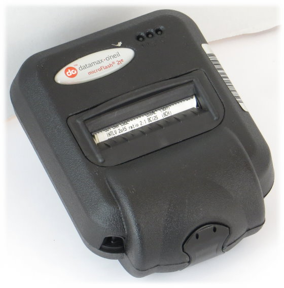 Datamax-O\'Neil microFlash 2te Etikettendrucker mobil wireless ohne Netzteil