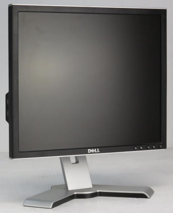 "19"" Dell 1908FP TFT Monitor 5 ms VGA DVI-D 800:1 4x USB schwarz-silber"