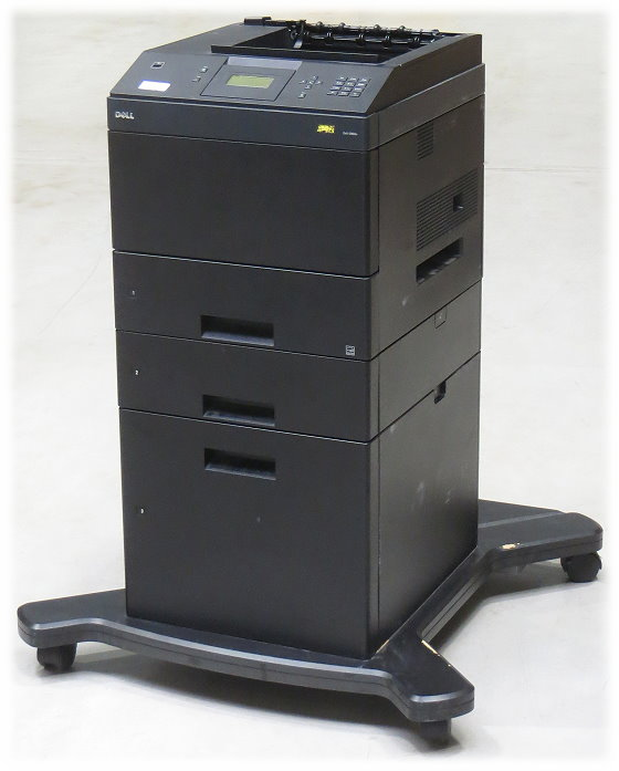 Dell 5350dn 48 ppm 128MB Duplex LAN Laserdrucker 2.PF 550+2000 Blatt 58.100 Seiten