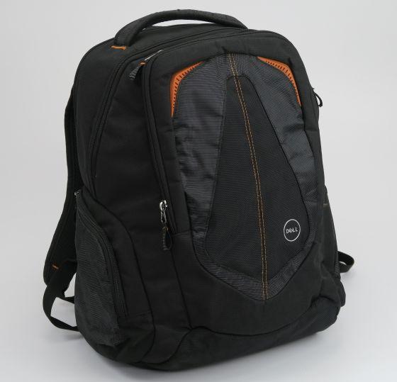 Dell VDPX7 Rucksack für Laptops und Notebooks bis 17 Zoll schwarz orange