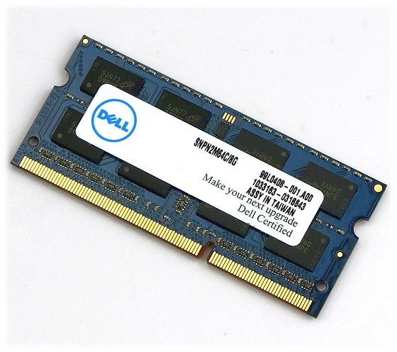 Dell 8GB SODIMM (1x 8GB) Notebook DDR3 RAM PC3L-12800S SNPN2M64C/8G