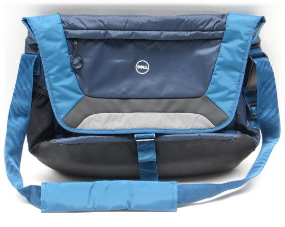 """Dell Tasche Tragetasche für Notebook bis 17,3"""" Nylon Bag blau-schwarz mit Schultergurt"""