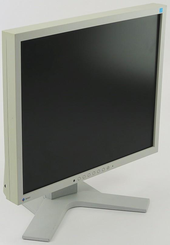 "19"" TFT EIZO FlexScan S1934 DVI VGA DP Monitor IPS mit LS vergilbt hellgrau"