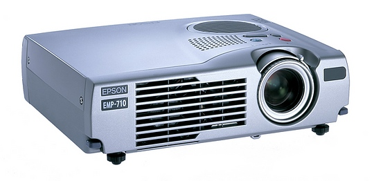 Epson EMP-710 LCD Beamer 1000 ANSI/LU 400:1 unter 250 Stunden ohne FB C- Ware