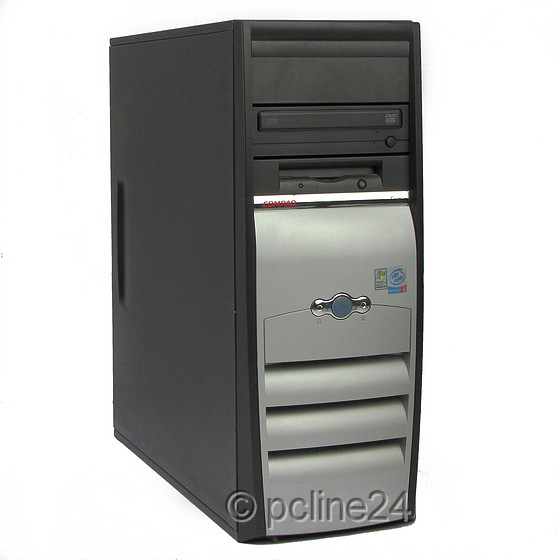 HP/Compaq evo D510 CMT Celeron 2GHz 512MB DVD-ROM RS232 ohne HDD (IDE) Tower PC