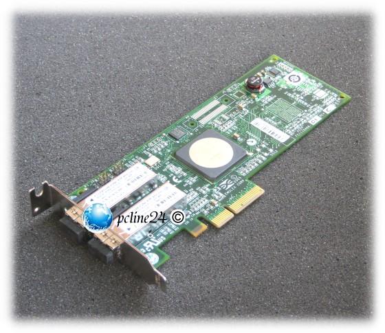 Emulex LPe11002-E PCIe x4 Dual FC 4GBit/s HBA low profile