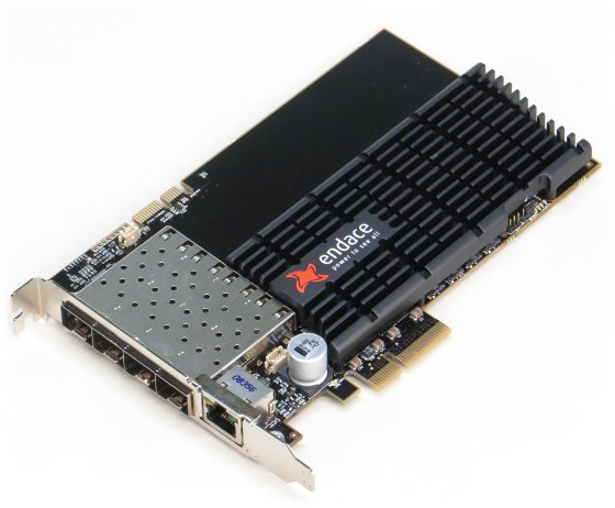 Endace DAG 7.5G4 Netzwerkkarte mit 4x FCLF-8521-3 Data Acquisition and Generation Card