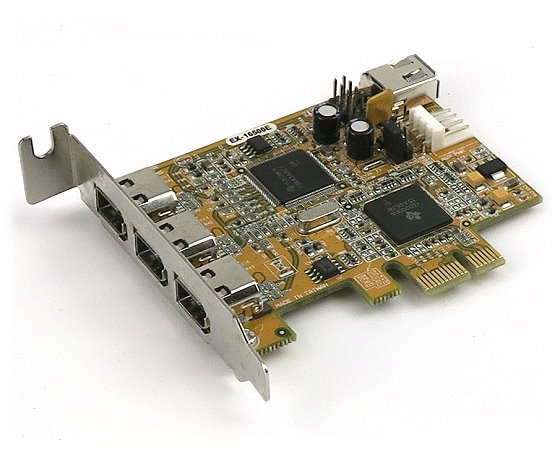 ExSys EX-16500E FireWire Karte 3x IEEE-1394A extern + 1x intern PCIe x1 low Profile