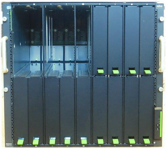 Fujitsu Primergy BX900 S2 Enclosure ohne Blade Server mit 2x CB18/8 10GbE 6x PSU