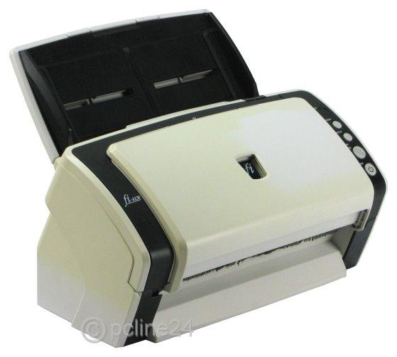 Fujitsu fi-6130 Dokumenten Scanner mit ADF ohne Netzteil vergilbt