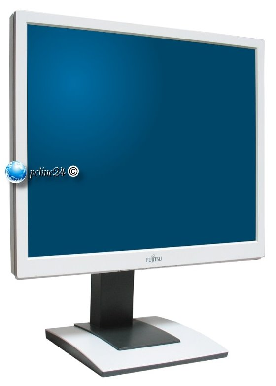 "19"" LCD TFT Fujitsu B19-5 ECO 1000:1 5ms Pivot DVI VGA Monitor weiß vergilbt"