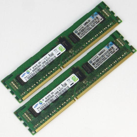 HP 8GB (2x 4GB) PC3-12800R ECC Reg 647648-071 M393B5270DH0 DDR3 1600MHz