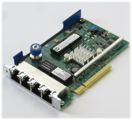 HP 331FLR 4x Port Gigabit Netzwerkkarte PCIe x8 GbE low Profile LP