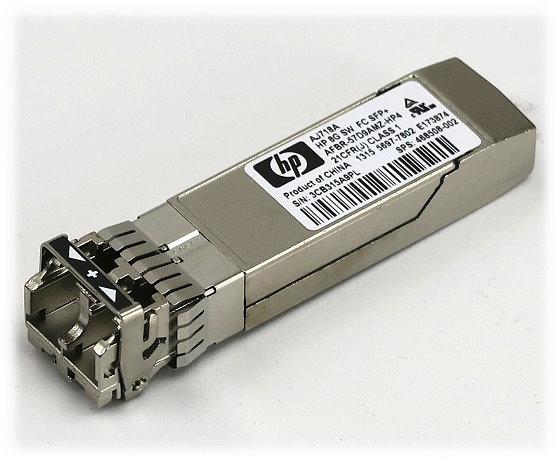HP AJ718A Mini GBIC 8Gbps 8G SW FC 850nm 500m Spare 468508-002