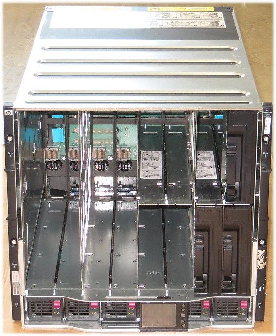 HP BL c7000 Blade Enclosure 2x 504624-001 399593-B22 6x PSU 2250W P/N 403323-B23