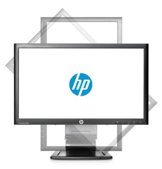 "23"" TFT LCD HP LA2306x LED Backlit FullHD VGA DVI DisplayPort Pivot Monitor"