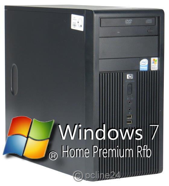 HP Compaq dx2300 MT Dual Core E2160 @ 1,8GHz 2GB 160GB DVD Computer Windows 7
