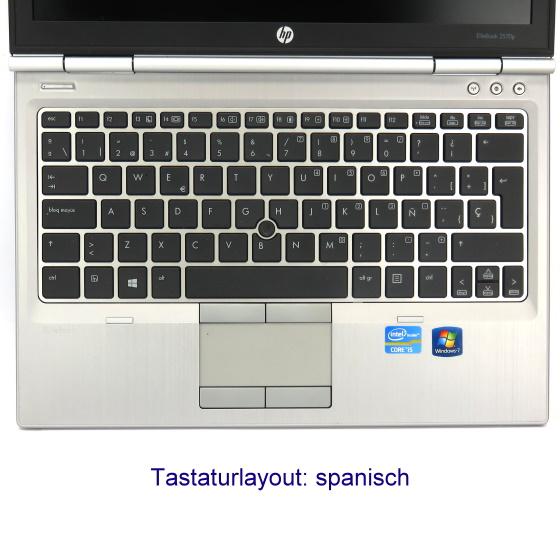 "12,5"" HP EliteBook 2570p Core i5 3340M @ 2,7GHz 4GB 320GB spanisch Webcam B-Ware"