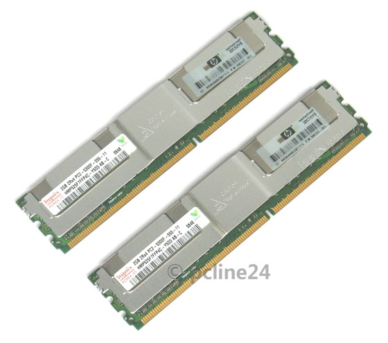 HP 4GB Kit 2x 2GB PC2-5300F 667MHz 398707-051 ECC fully buffered 2Rx4 FB-DIMM