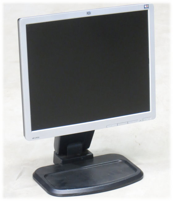 """19"""" TFT LCD HP L1950 1280 x 1024 Pivot D-Sub DVI-D USB-Hub Monitor"""