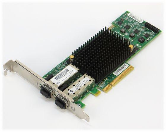 HP OCE11102 PCI-e x8 2x Fibre Chanel 10GbE HBA Adapter Card
