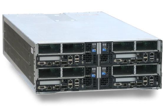 HP ProLiant S6500 Server mit 4x Blade SL390s G7 8x Xeon QC X5687 128GB 4x PSU