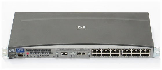 HP Procurve 2524 J4813A 24-port Managed Switch + J4116A + J4131B