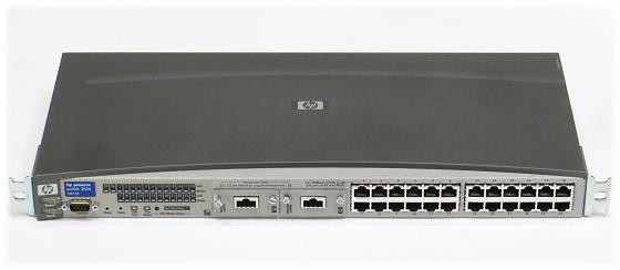HP Procurve 2524 J4813A 24-port Switch +2x J4116A Gigabit Stacking
