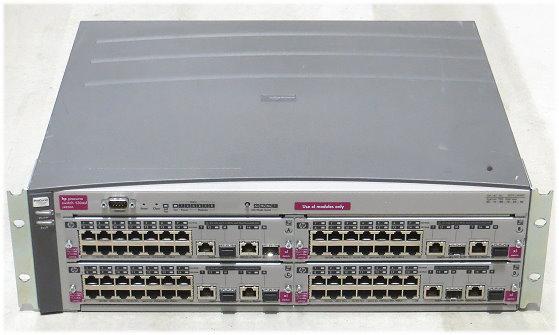 HP Procurve 5304xl Switch mit 4x J4907A 2x PSU im 19 Zoll Rack