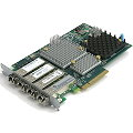 HP QR486A Fiber Channel Adapter 4x 8G 8Gbps AJ718A PCIe x8 für 3PAR StoreServ 7000