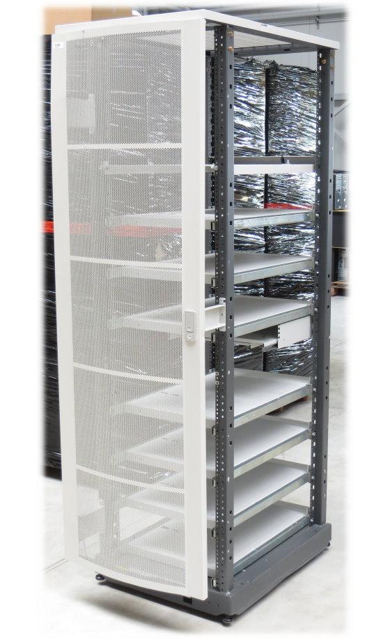 HP Rack A4902A Serverschrank 40HE/40U auf Rollen mit 7x Zwischenboden ausziebar