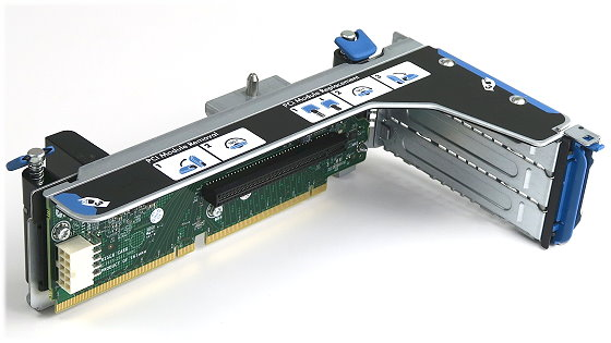 HP Riser Card für ProLiant DL380 G8 2x PCIe x16 P/N 662525-001