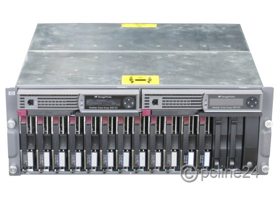 HP Storageworks MSA500 G2 12x 73GB SCSI Smart Disk Array Dual Controller