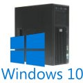 HP Z200 Quad Core Xeon X3450 2,66GHz 8GB 500GB DVDRW Quadro 600 Windows 10